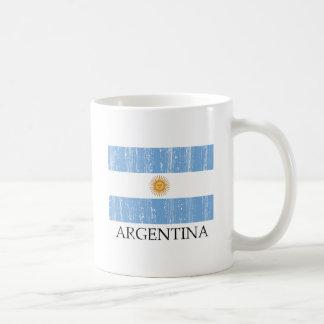 Bandera de la Argentina del vintage Taza