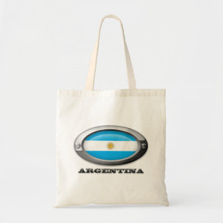 Bandera de la Argentina en el marco de acero Bolsa Tela Barata