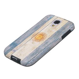 Bandera de la Argentina en la madera Funda Galaxy S4