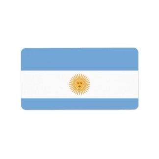 Bandera de la Argentina Etiquetas De Dirección