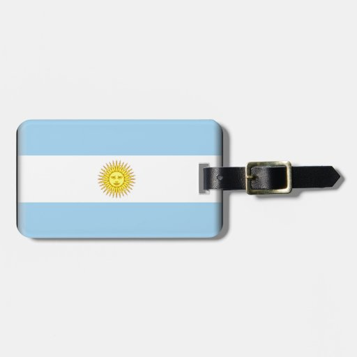 Bandera de la Argentina Etiquetas De Maletas