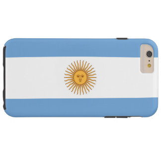 Bandera de la Argentina Funda De iPhone 6 Plus Tough