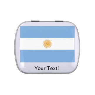 Bandera de la Argentina Jarrones De Dulces
