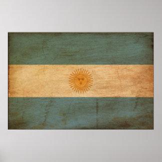 Bandera de la Argentina Poster