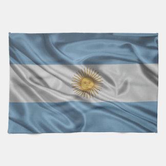 Bandera de la Argentina Toalla De Cocina