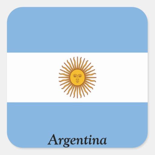 Bandera de la Argentina Colcomanias Cuadradas Personalizadas