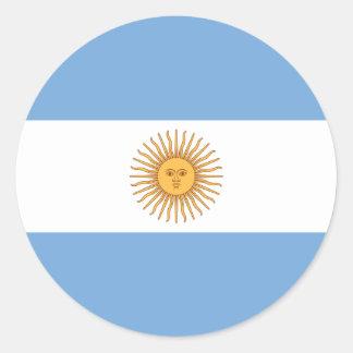 Bandera de la Argentina Pegatina Redonda
