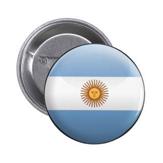Bandera de la Argentina Pin Redondo De 2 Pulgadas