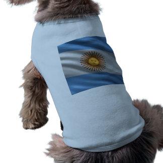 Bandera de la Argentina Playera Sin Mangas Para Perro