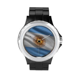Bandera de la Argentina Relojes De Pulsera