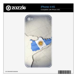 Bandera de la Argentina Skin Para El iPhone 4