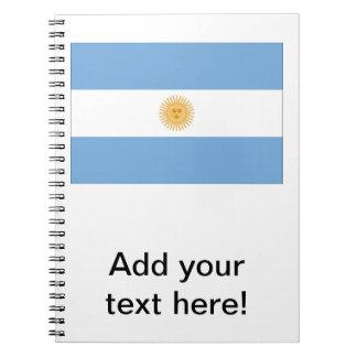 Bandera de la Argentina Spiral Notebooks