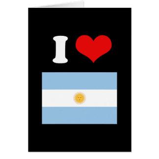 Bandera de la Argentina Tarjeta