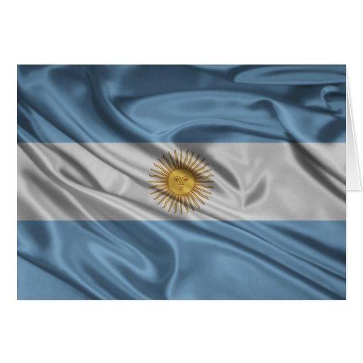 Bandera de la Argentina Tarjeta De Felicitación