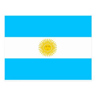 Bandera de la Argentina Tarjeta Postal