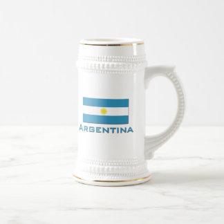 Bandera de la Argentina Taza De Café
