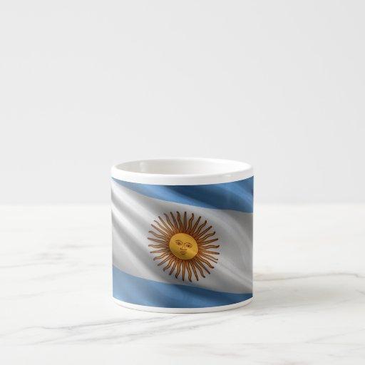 Bandera de la Argentina Taza Espresso