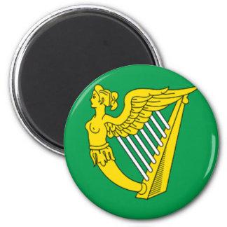 Bandera de la arpa de Irlanda Imán De Frigorifico