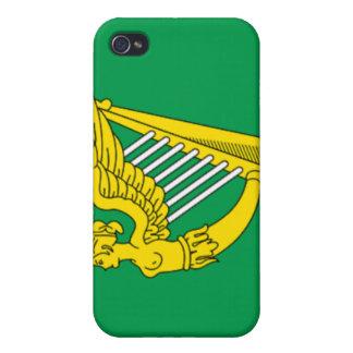 Bandera de la arpa de Irlanda iPhone 4/4S Fundas