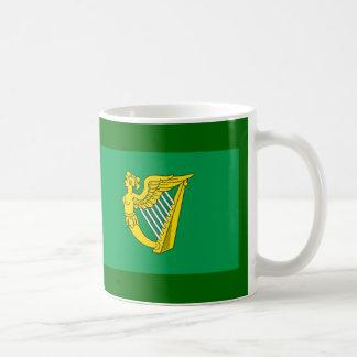 Bandera de la arpa de Irlanda Taza