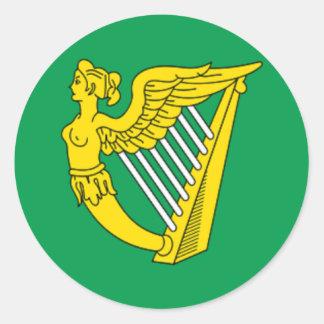 Bandera de la arpa del pegatina de Irlanda