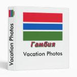 Bandera de la bandera de Gambia con nombre en ruso