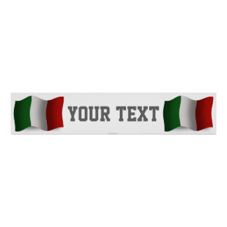 Bandera de la bandera de Italia que agita Póster