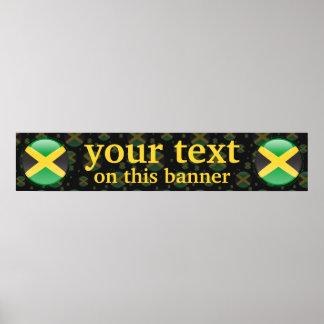 Bandera de la bandera de la burbuja de Jamaica Póster