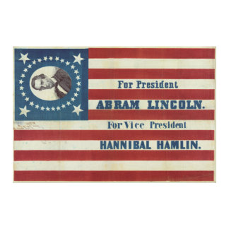 Bandera de la bandera de la campaña de la presiden impresión en lona estirada