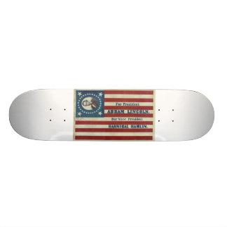 Bandera de la bandera de la campaña de la presiden tabla de patinar