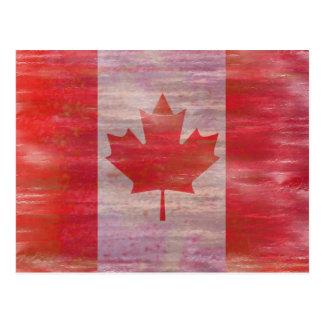 Bandera de la bandera del canadiense de Canadá Tarjeta Postal