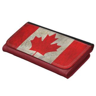 Bandera de la bandera del canadiense de la hoja de