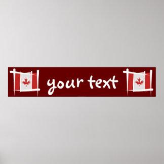 Bandera de la bandera del cepillo de Canadá Poster