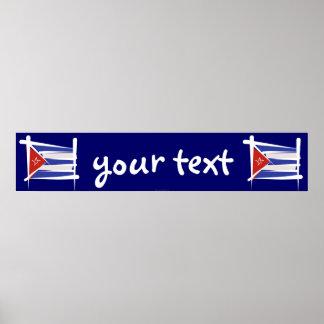 Bandera de la bandera del cepillo de Cuba Impresiones