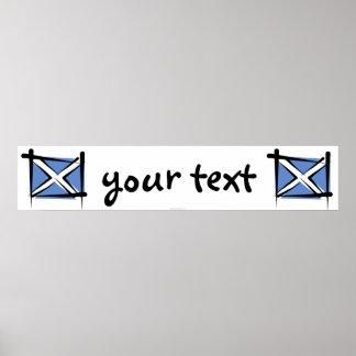 Bandera de la bandera del cepillo de Escocia Posters