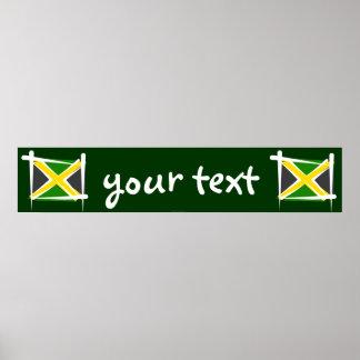 Bandera de la bandera del cepillo de Jamaica Poster