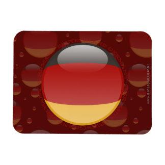 Bandera de la burbuja de Alemania Imanes De Vinilo