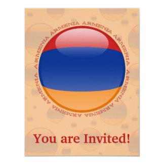 """Bandera de la burbuja de Armenia Invitación 4.25"""" X 5.5"""""""