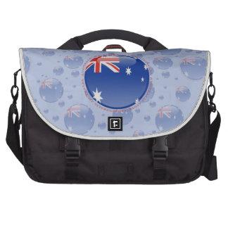 Bandera de la burbuja de Australia Bolsas De Portatil