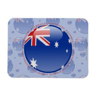 Bandera de la burbuja de Australia Imanes De Vinilo