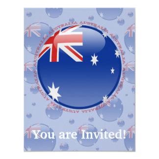"""Bandera de la burbuja de Australia Invitación 4.25"""" X 5.5"""""""