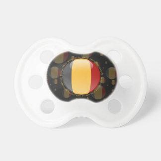 Bandera de la burbuja de Bélgica Chupetes De Bebe