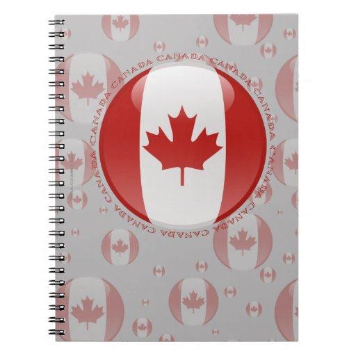 Bandera de la burbuja de Canadá Libretas