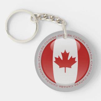 Bandera de la burbuja de Canadá Llavero Redondo Acrílico A Doble Cara