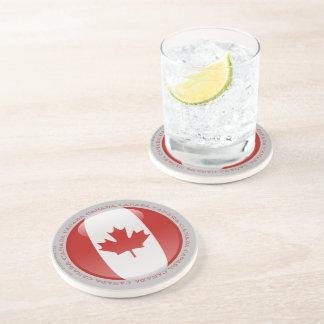 Bandera de la burbuja de Canadá Posavasos Cerveza