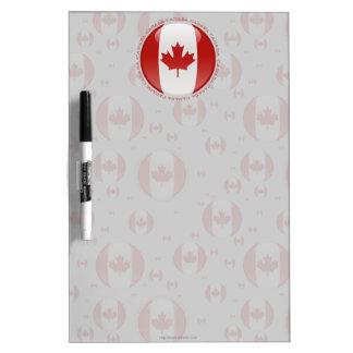 Bandera de la burbuja de Canadá Tablero Blanco