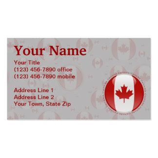 Bandera de la burbuja de Canadá Tarjetas De Visita