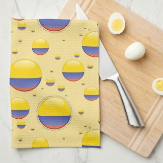 Bandera de la burbuja de Colombia Toalla De Cocina