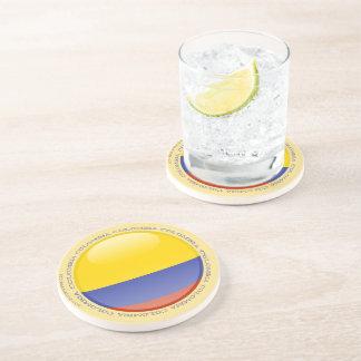 Bandera de la burbuja de Colombia Posavasos Manualidades