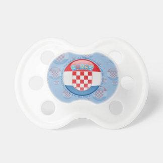Bandera de la burbuja de Croacia Chupetes Para Bebes